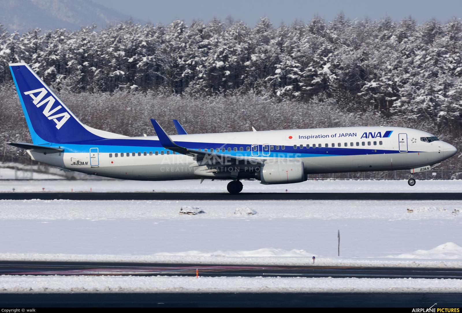 ANA - All Nippon Airways JA83AN aircraft at New Chitose
