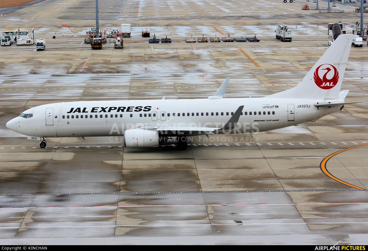 JAL - Japan Airlines JA323J aircraft at Chubu Centrair Intl