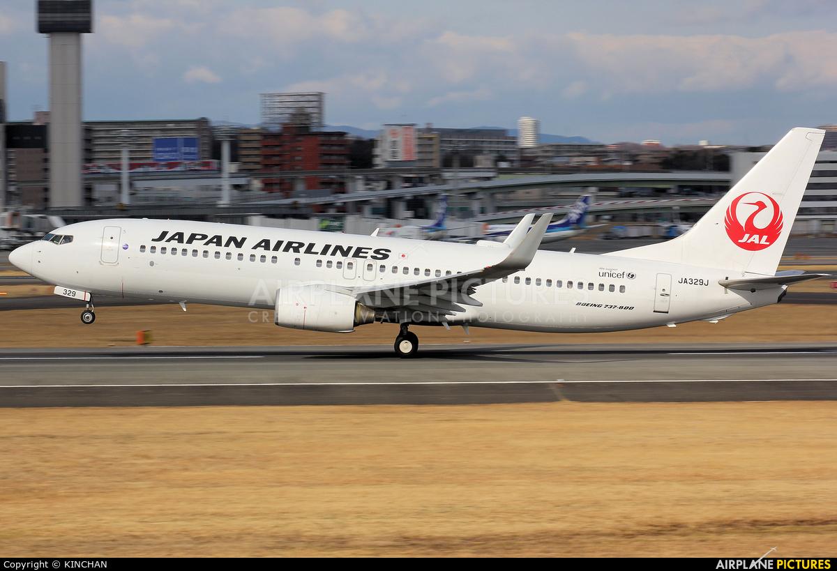 JAL - Japan Airlines JA329J aircraft at Osaka - Itami Intl