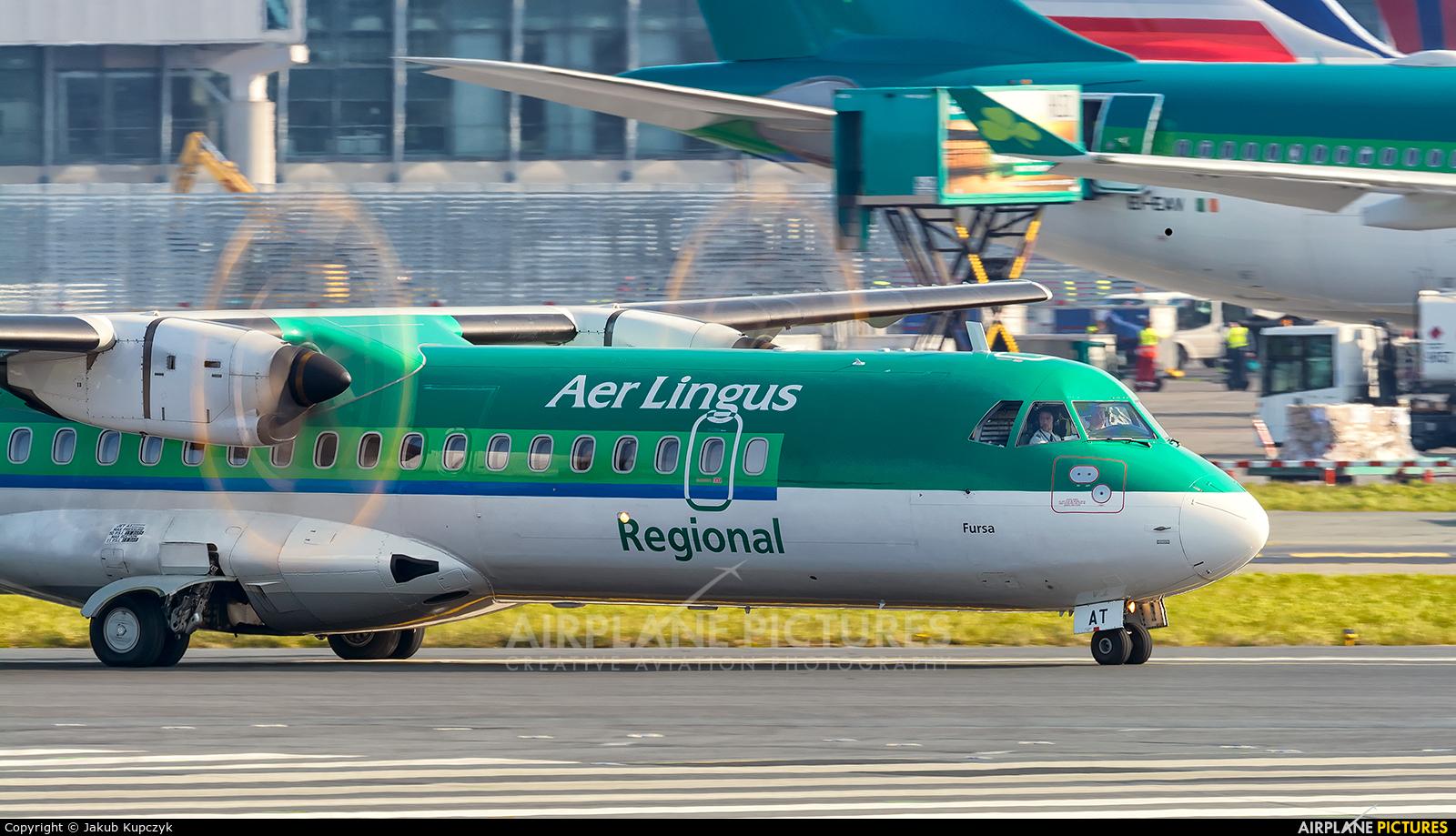 Stobart Air EI-FAT aircraft at Dublin