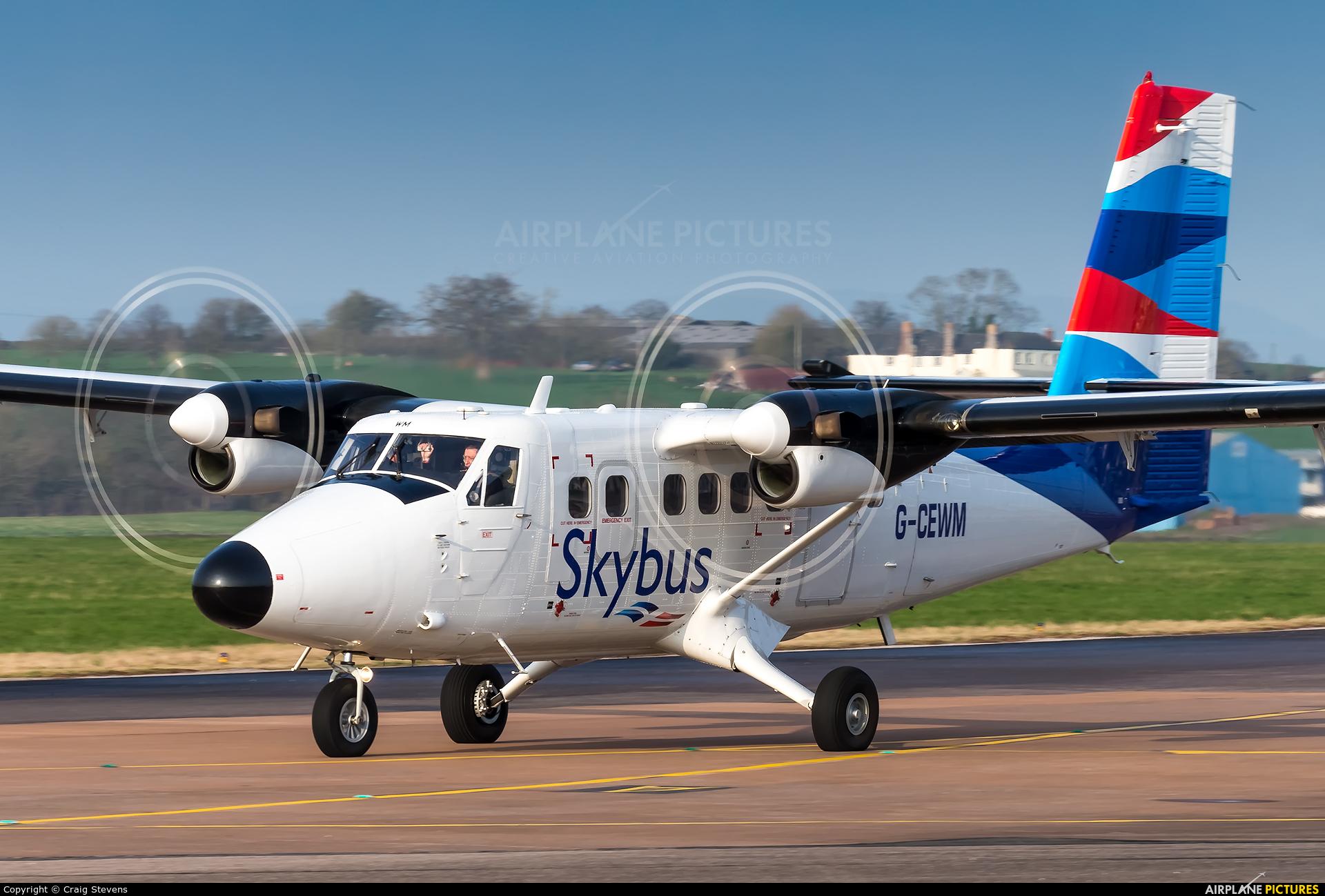 Skybus G-CEWM aircraft at Exeter