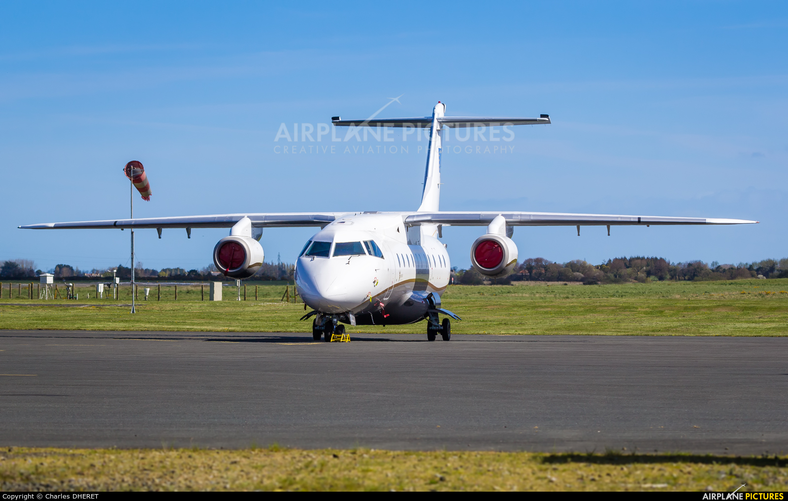Sun Air OY-NCT aircraft at St. Brieuc - Armor