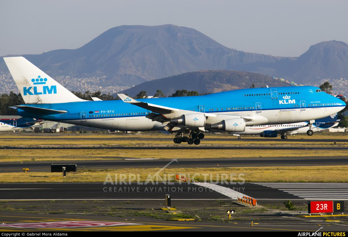 KLM PH-BFU aircraft at Mexico City - Licenciado Benito Juarez Intl
