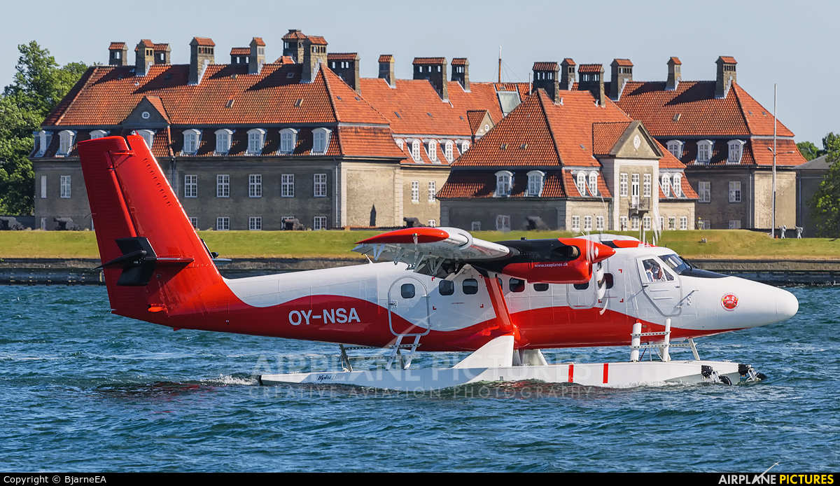Nordic Seaplanes OY-NSA aircraft at Copenhagen harbour sea airport