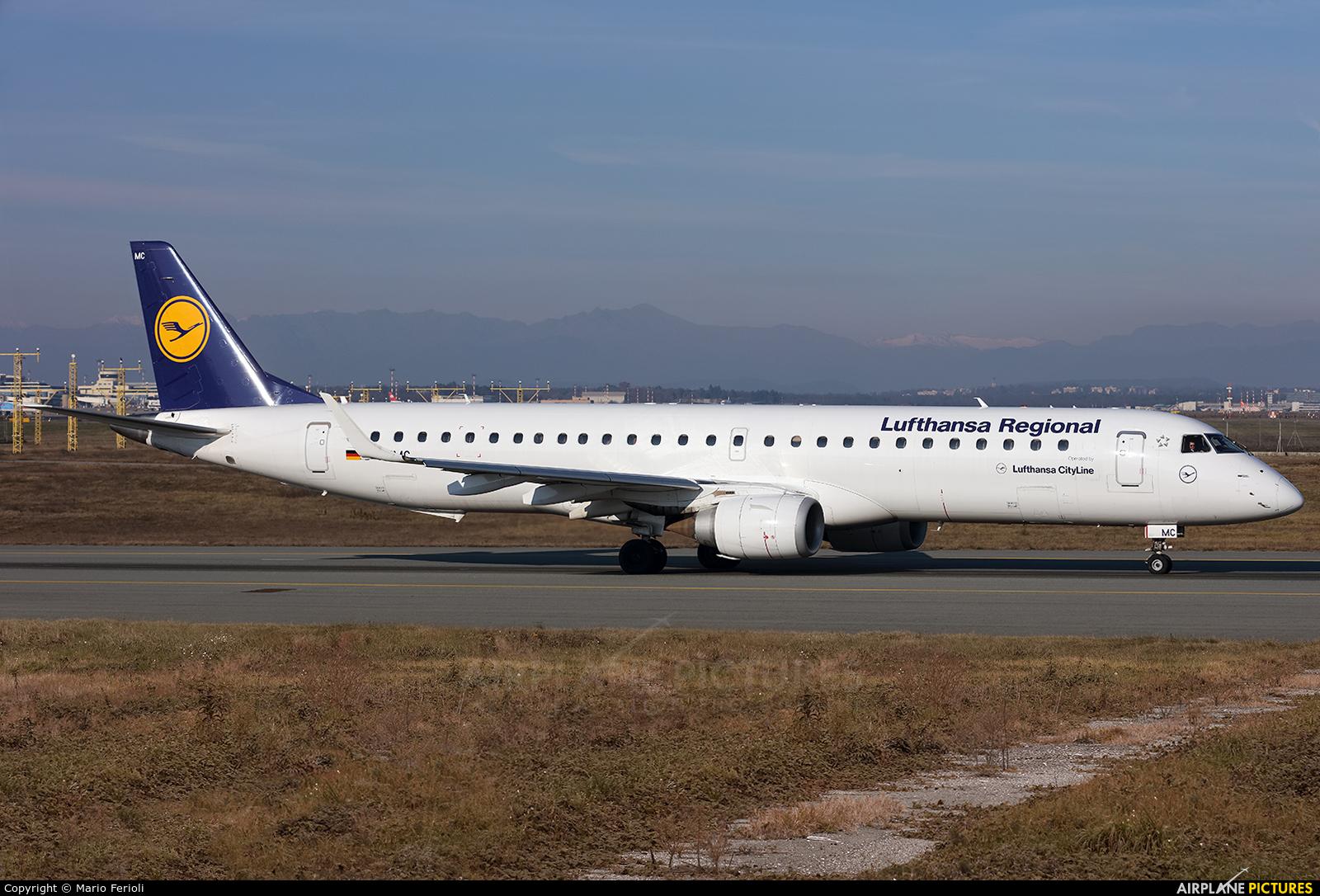 Lufthansa Regional - CityLine D-AEMC aircraft at Milan - Malpensa