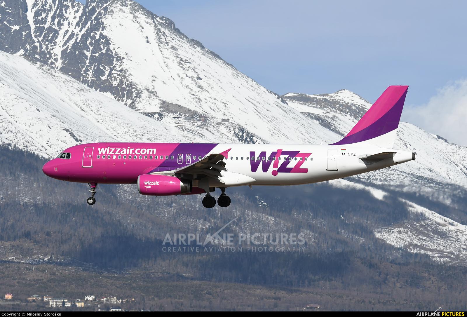Wizz Air HA-LPZ aircraft at Poprad - Tatry