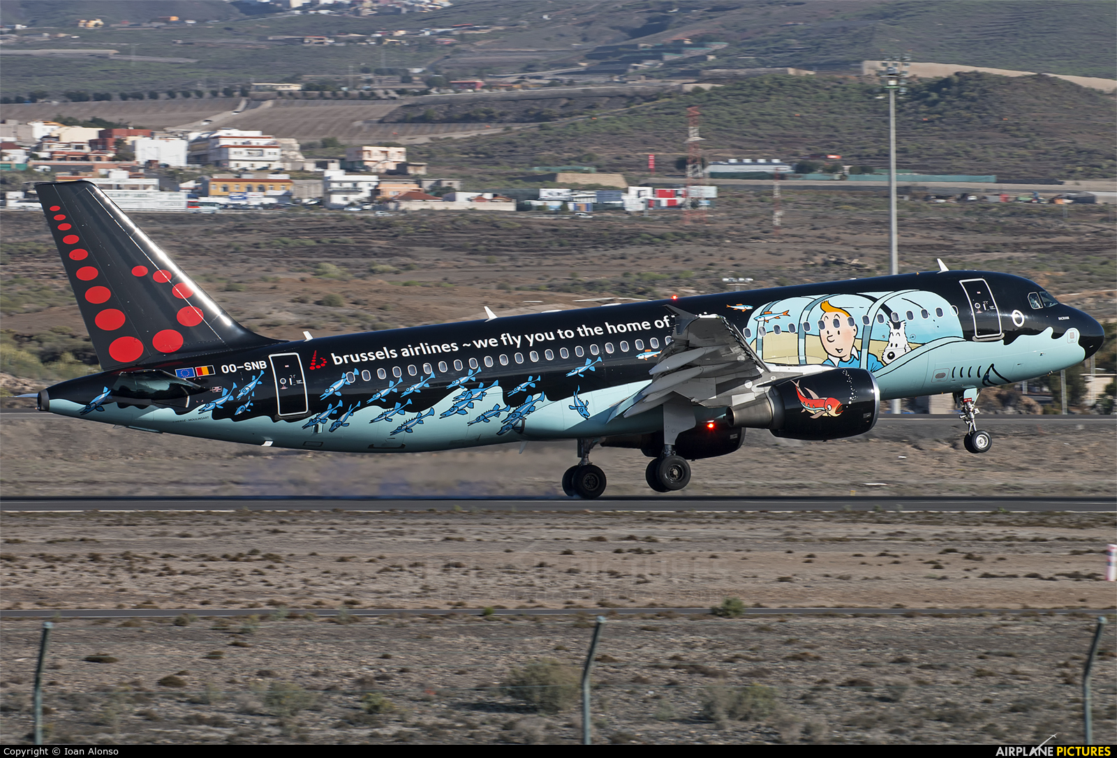 Brussels Airlines OO-SNB aircraft at Tenerife Sur - Reina Sofia