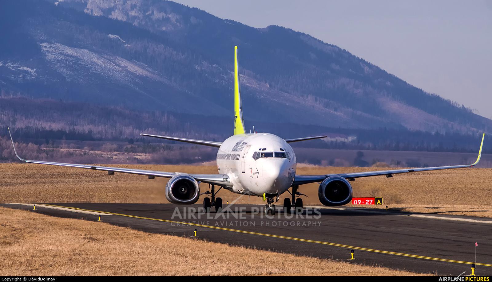 Air Baltic YL-BBY aircraft at Poprad - Tatry