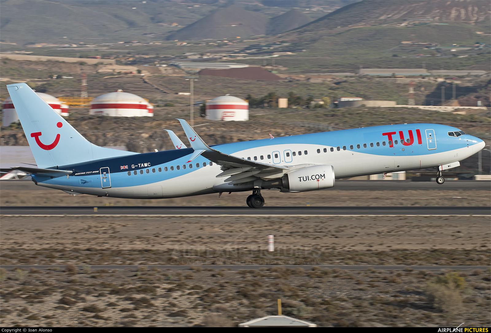 TUI Airways G-TAWC aircraft at Tenerife Sur - Reina Sofia