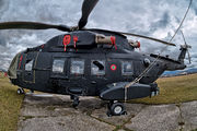 Rare visit of Italian AF helicopter at Dubnica nad Vahom due to technical problems title=