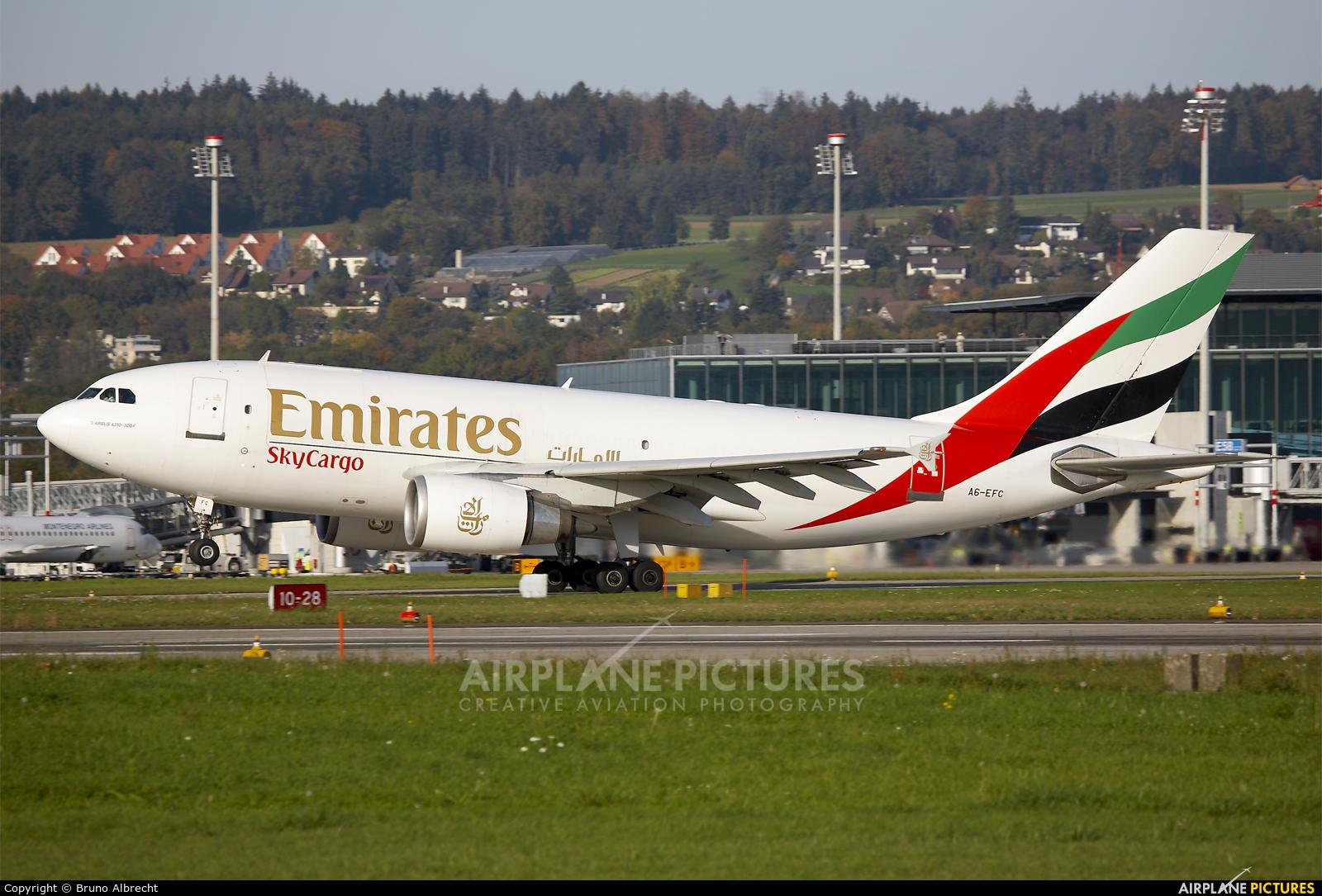 Emirates Sky Cargo A6-EFC aircraft at Zurich
