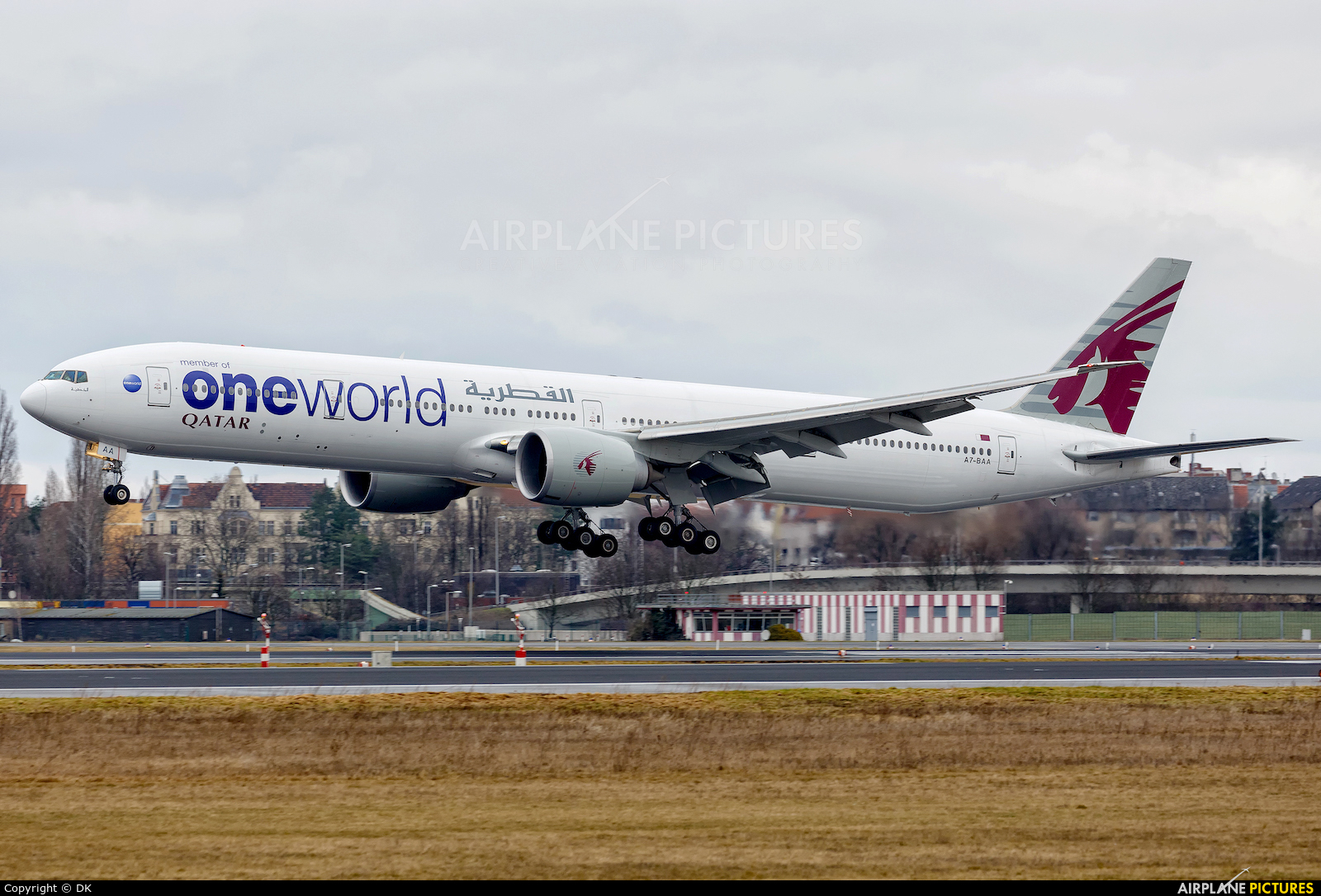 Qatar Airways A7-BAA aircraft at Berlin - Tegel