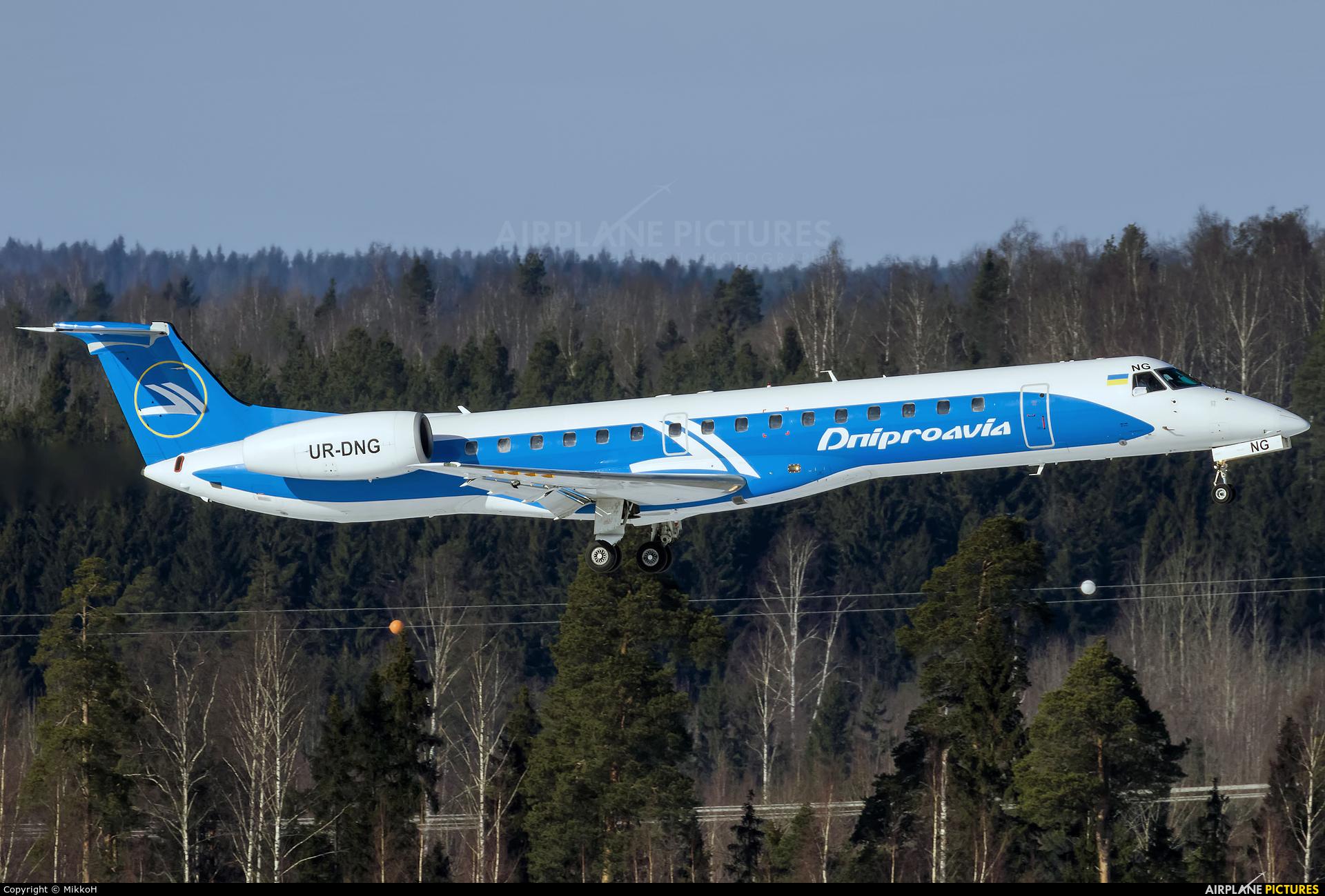 Dniproavia UR-DNG aircraft at Helsinki - Vantaa