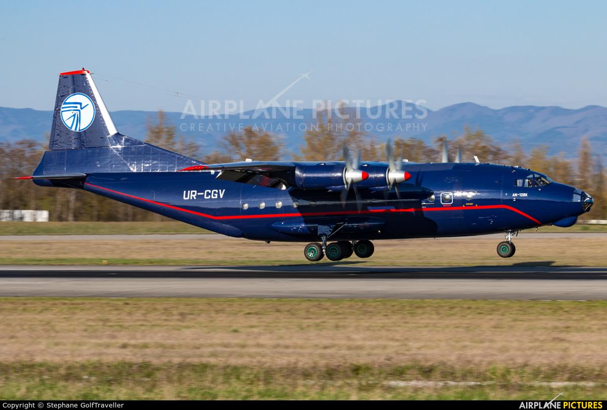 Ukraine Air Alliance UR-CGV aircraft at Basel - Mulhouse- Euro