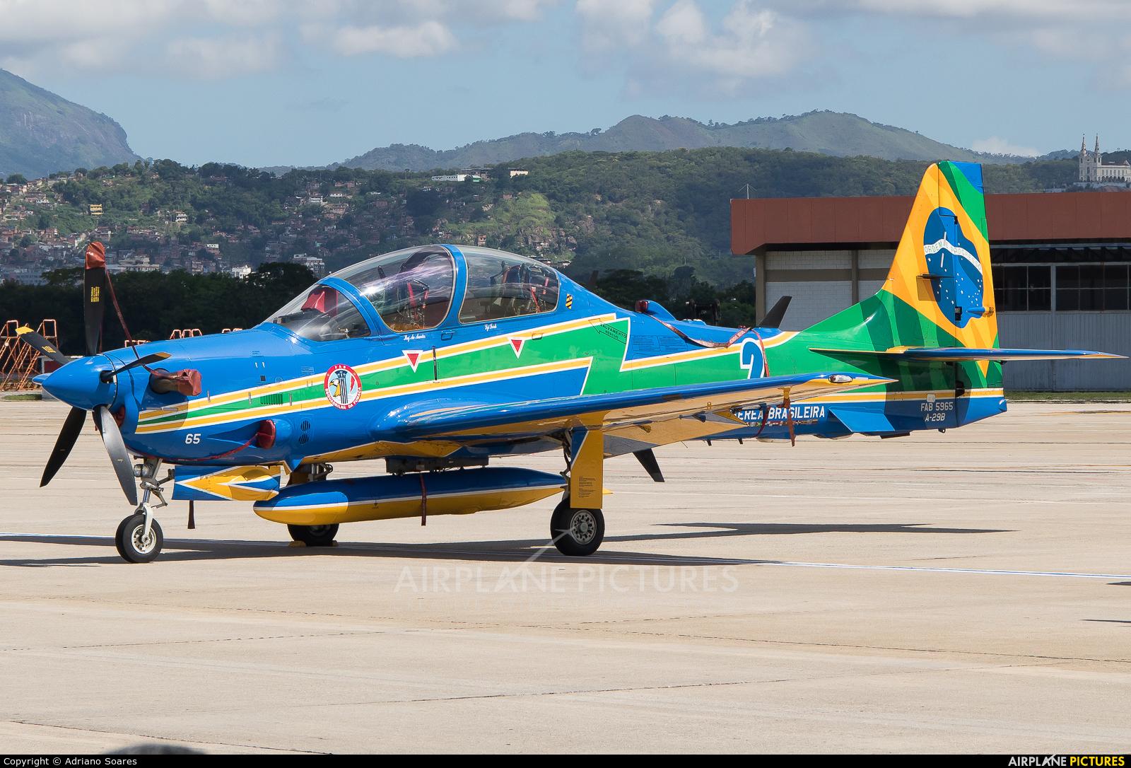 """Brazil - Air Force """"Esquadrilha da Fumaça"""" FAB5965 aircraft at Rio de Janeiro/Galeão Intl - Antonio Carlos Jobim"""
