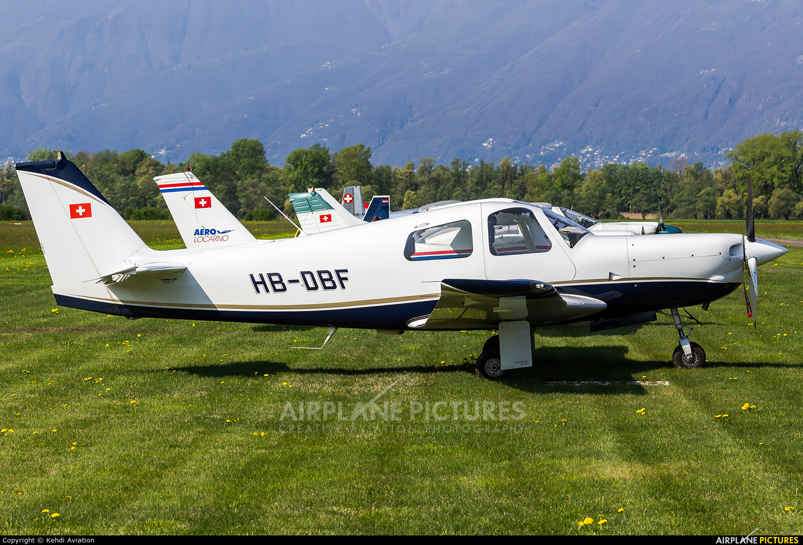 Private HB-DBF aircraft at Locarno
