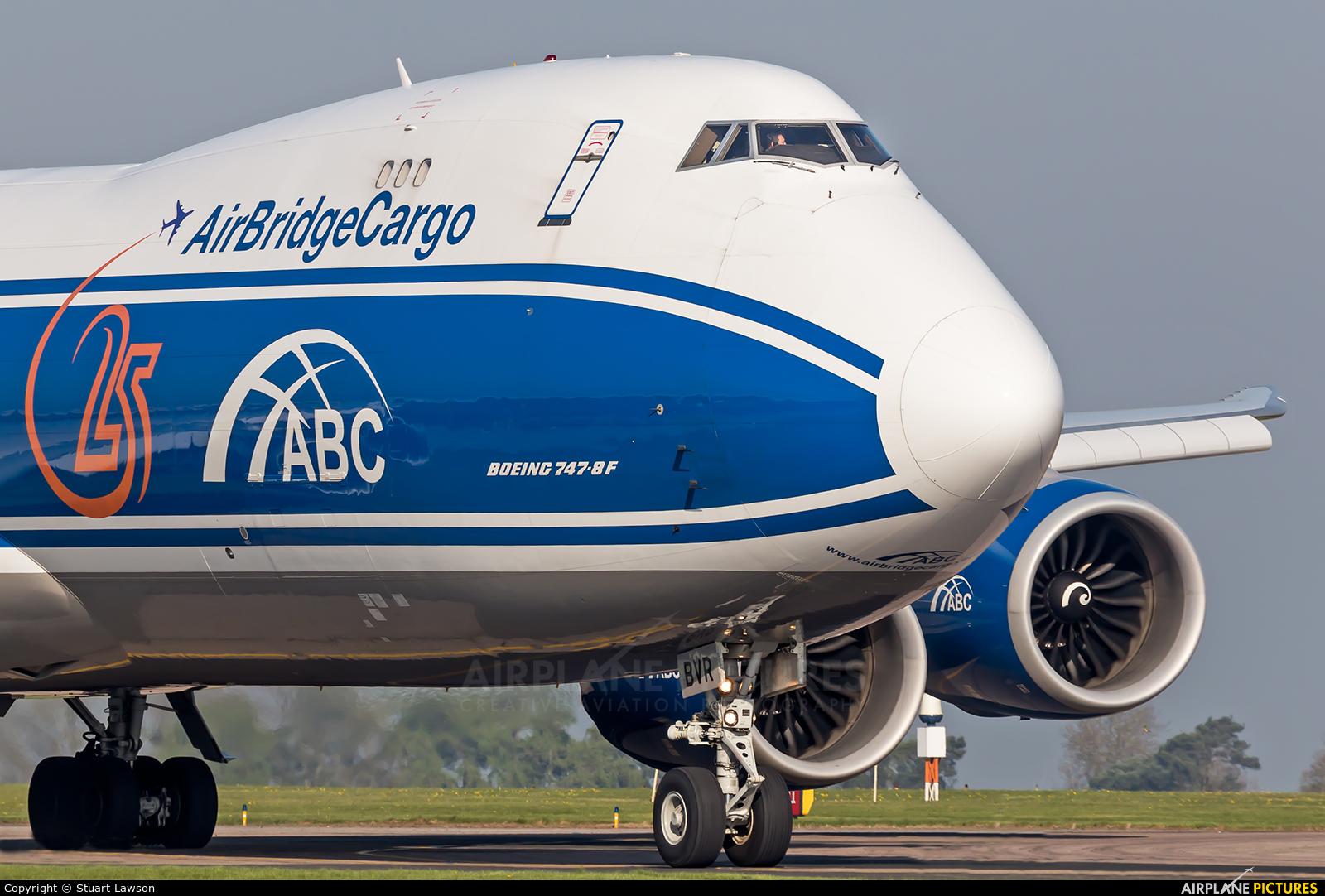 Air Bridge Cargo VQ-BVR aircraft at East Midlands
