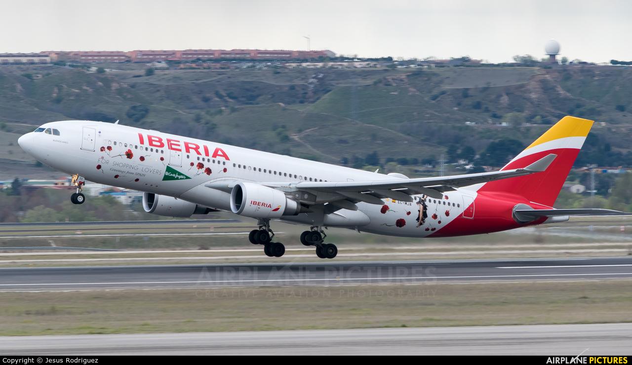 Iberia EC-MJA aircraft at Madrid - Barajas