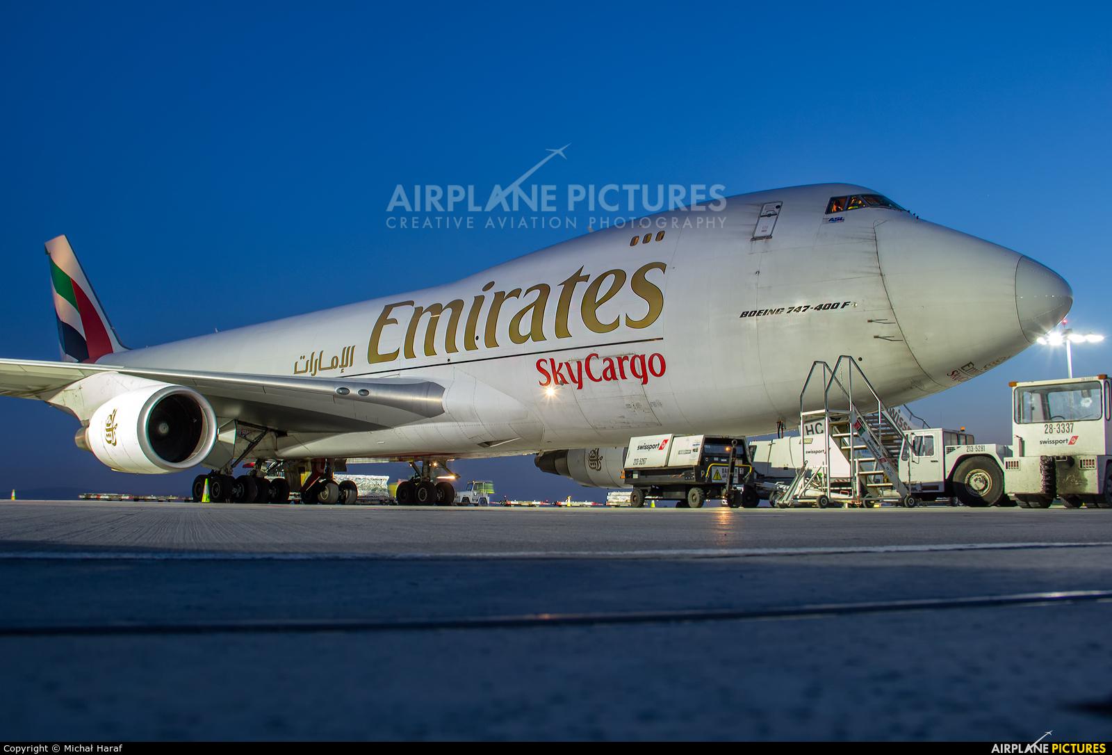 Emirates Sky Cargo OO-THC aircraft at Dublin