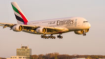 A6-EEN - Emirates Airlines Airbus A380 aircraft