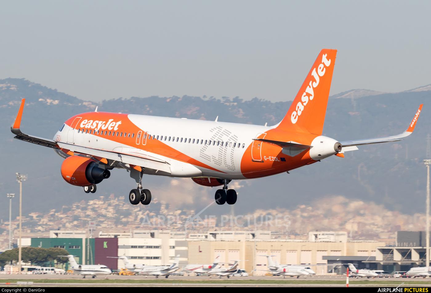 easyJet G-EZOL aircraft at Barcelona - El Prat
