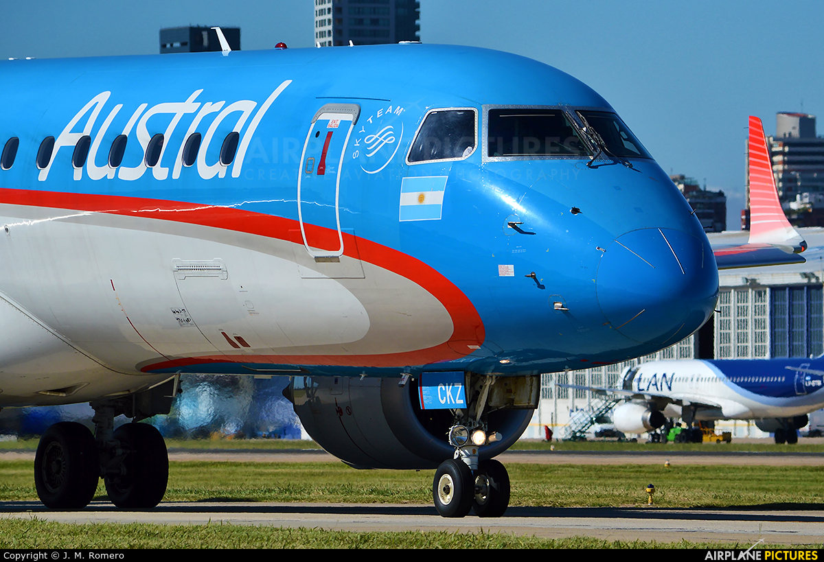Austral Lineas Aereas LV-CKZ aircraft at Buenos Aires - Jorge Newbery