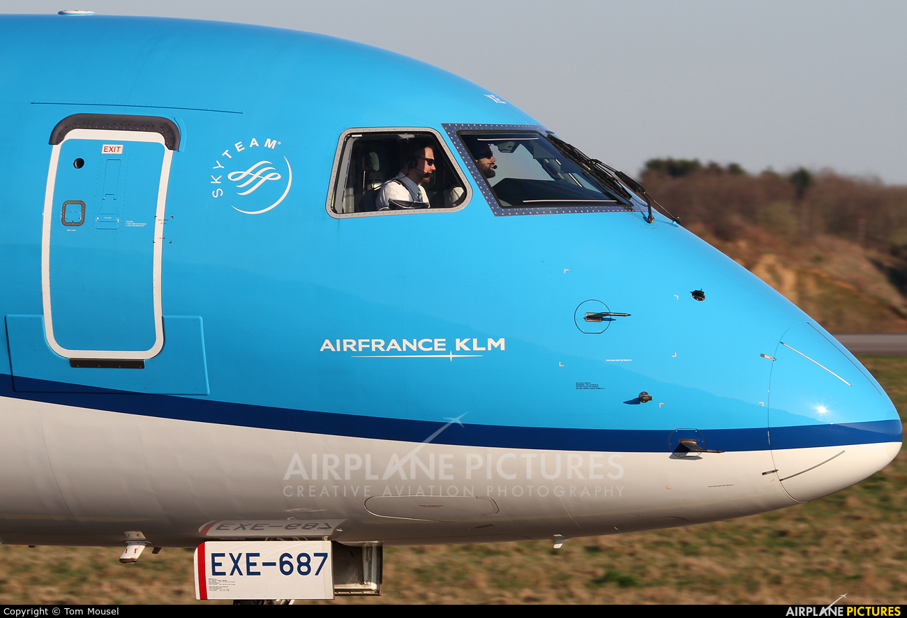 KLM Cityhopper PH-EXE aircraft at Luxembourg - Findel