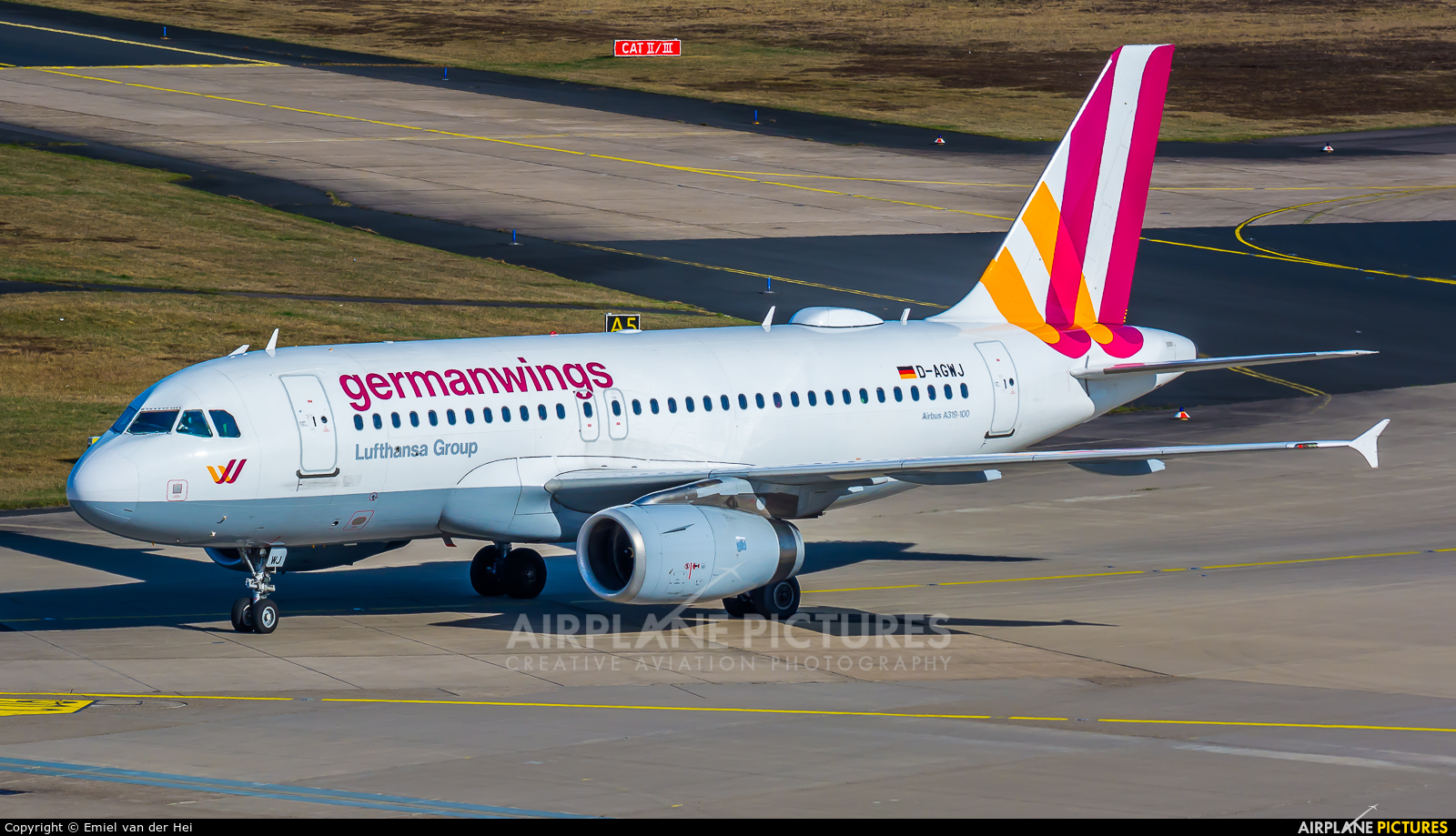 Germanwings D-AGWJ aircraft at Cologne Bonn - Konrad Adenauer