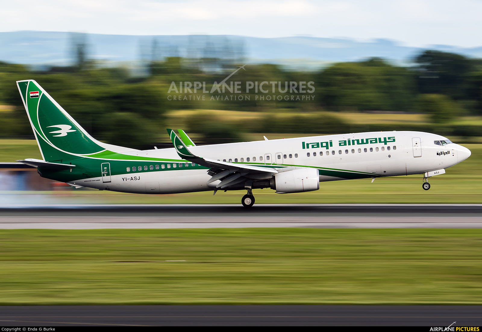 Iraqi Airways YI-ASJ aircraft at Manchester