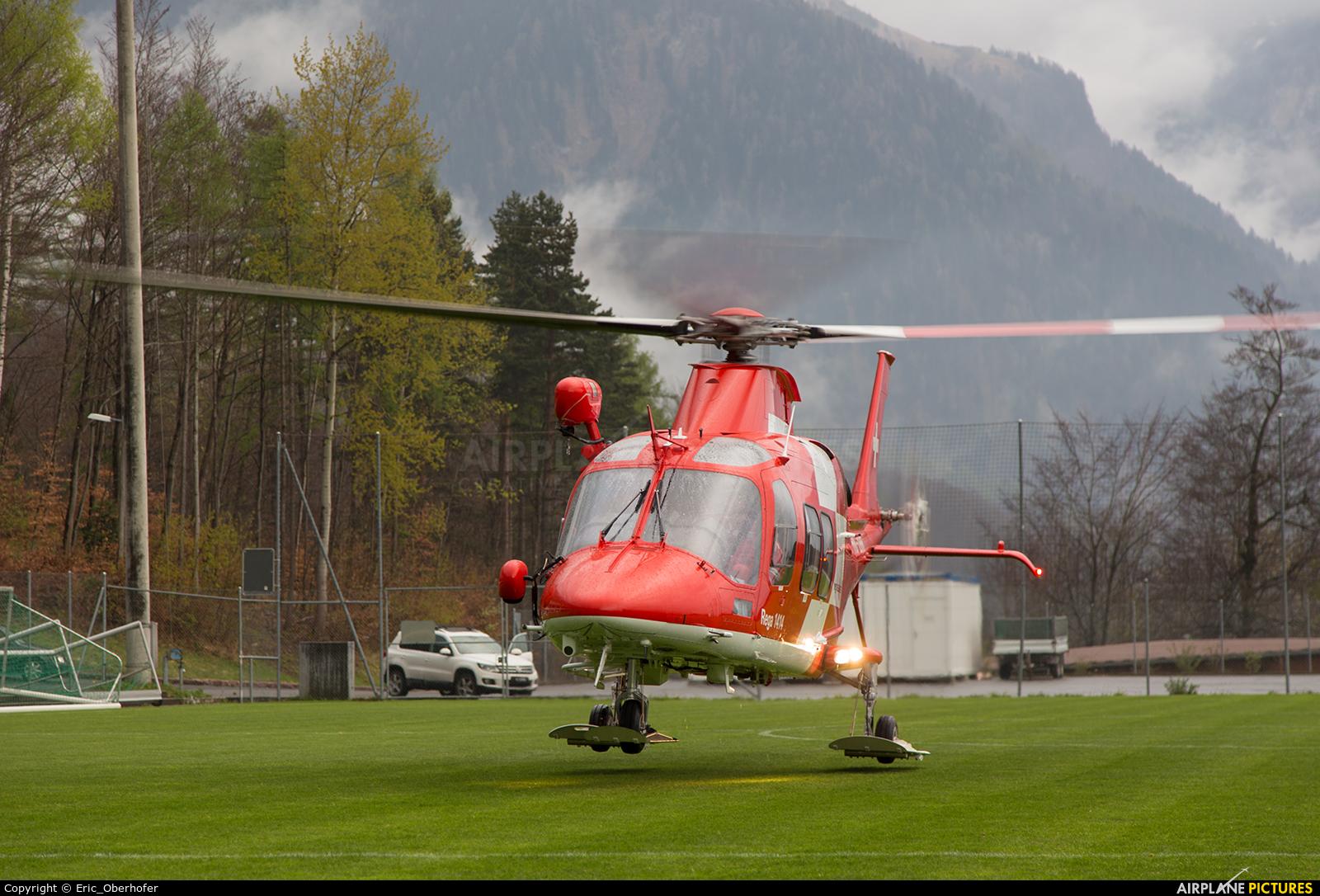 REGA Swiss Air Ambulance  HB-ZRR aircraft at Off Airport - Swiss Alps