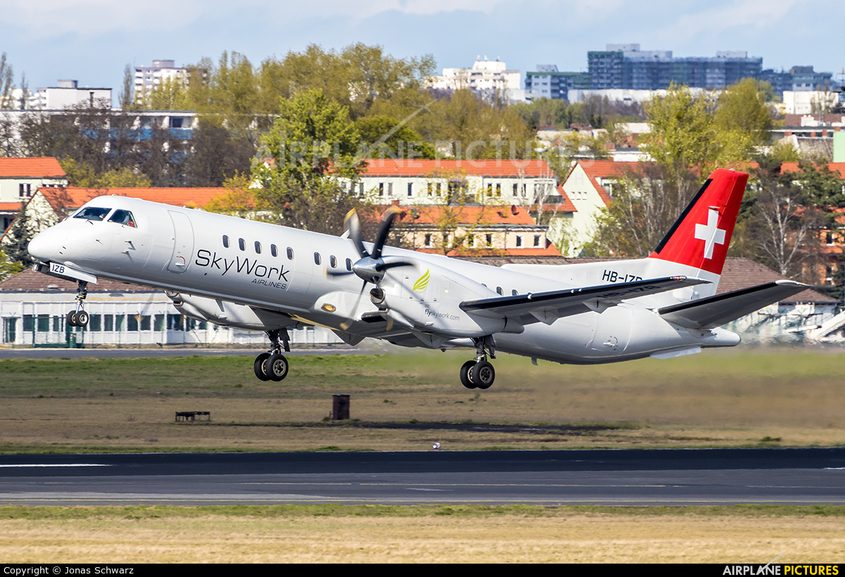 Sky Work Airlines HB-IZB aircraft at Berlin - Tegel