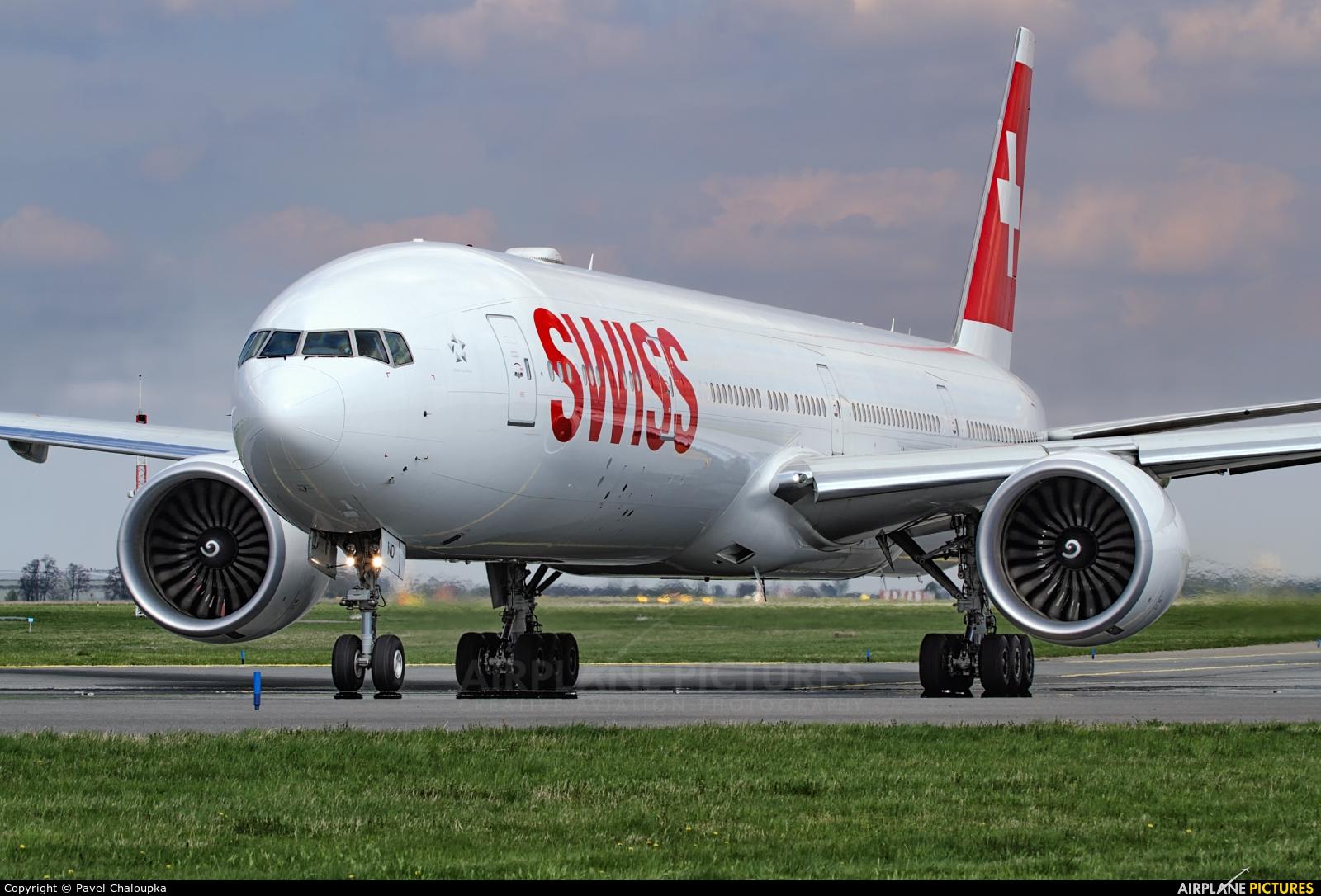 Swiss HB-JND aircraft at Prague - Václav Havel