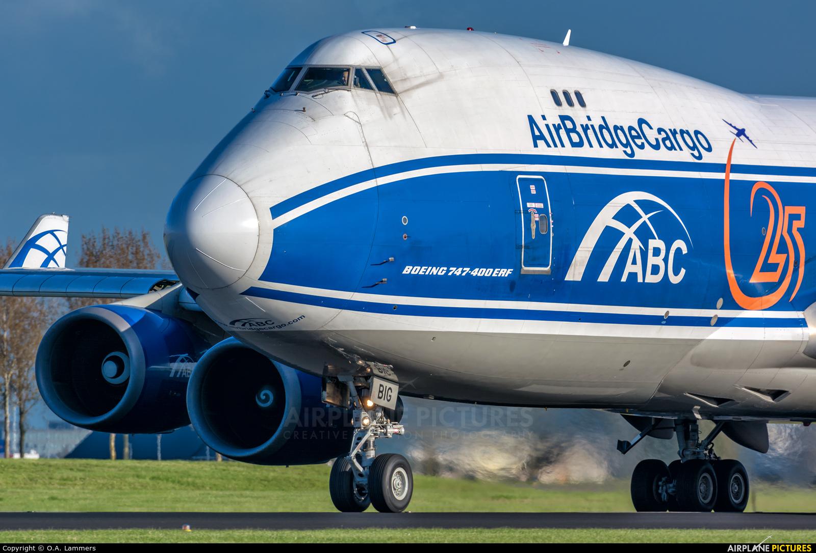 Air Bridge Cargo VP-BIG aircraft at Amsterdam - Schiphol