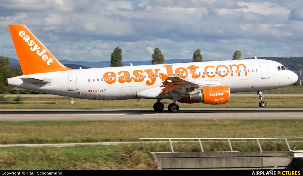 easyJet Switzerland HB-JYD aircraft at Basel - Mulhouse- Euro