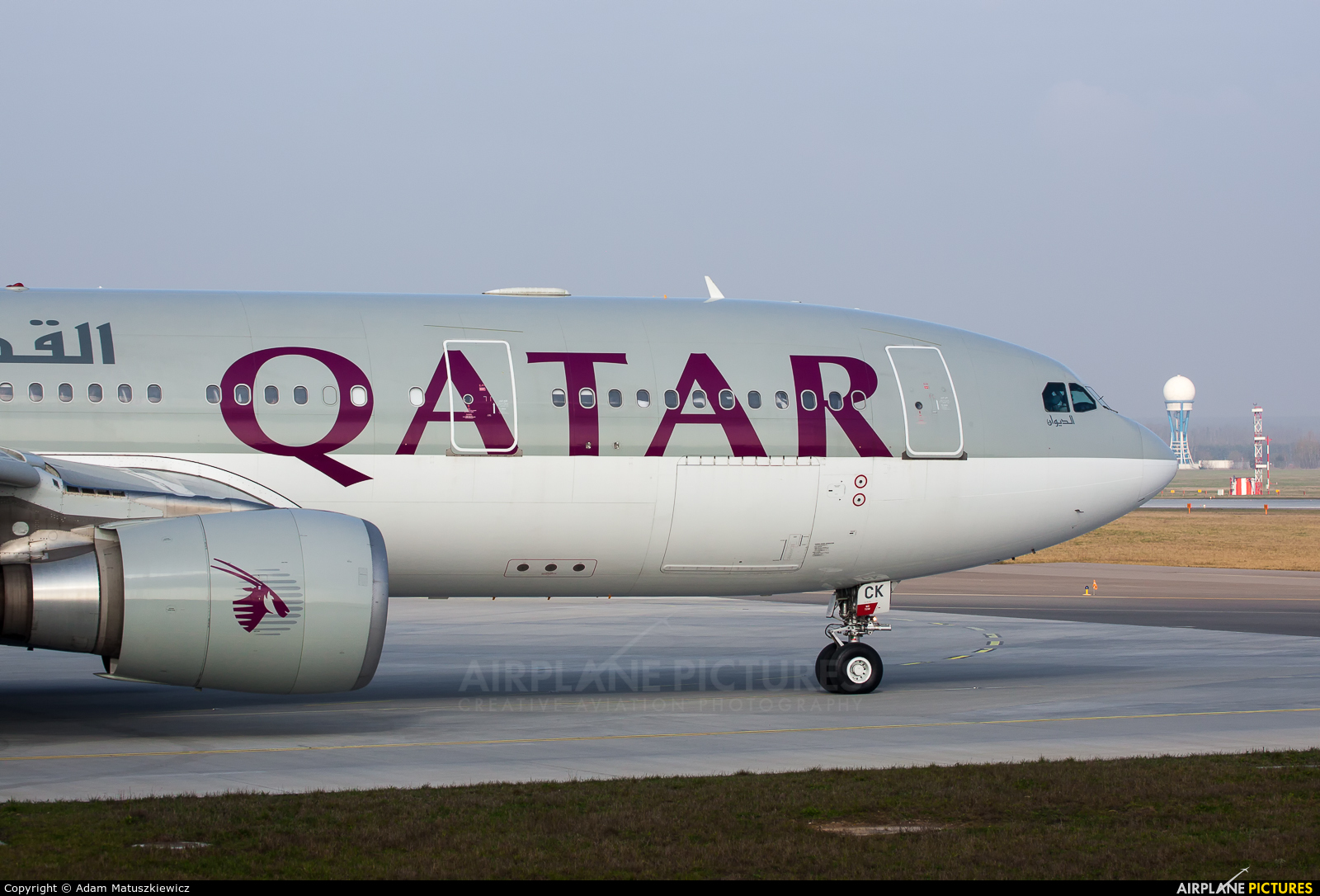 Qatar Airways A7-ACK aircraft at Katowice - Pyrzowice