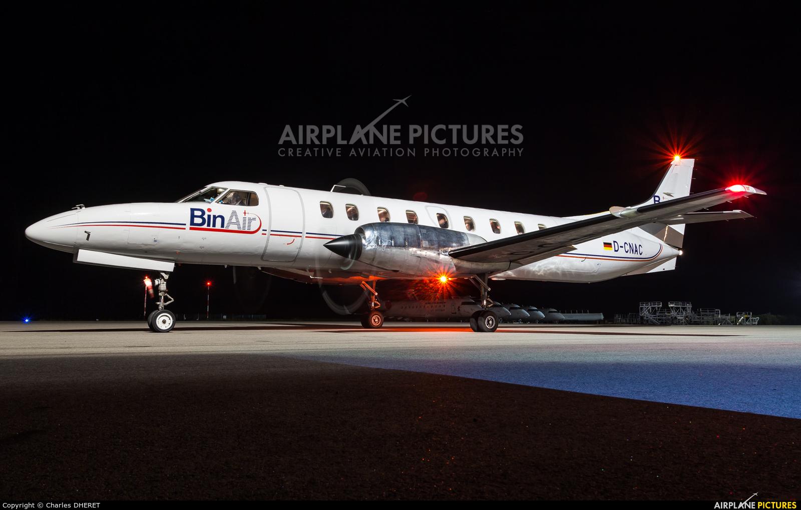 Bin Air D-CNAC aircraft at Morlaix Ploujean Airport