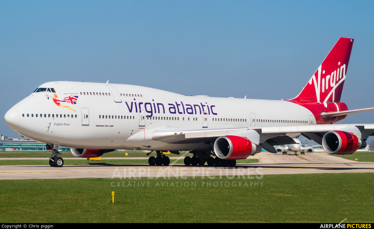 Virgin Atlantic G-VROS aircraft at Manchester