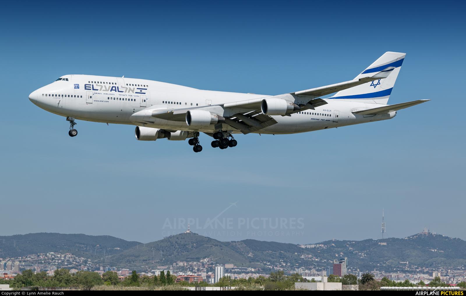El Al Israel Airlines 4X-ELH aircraft at Barcelona - El Prat