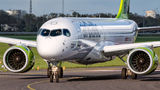 Air Baltic Bombardier CS300 YL-CSA at Amsterdam - Schiphol airport