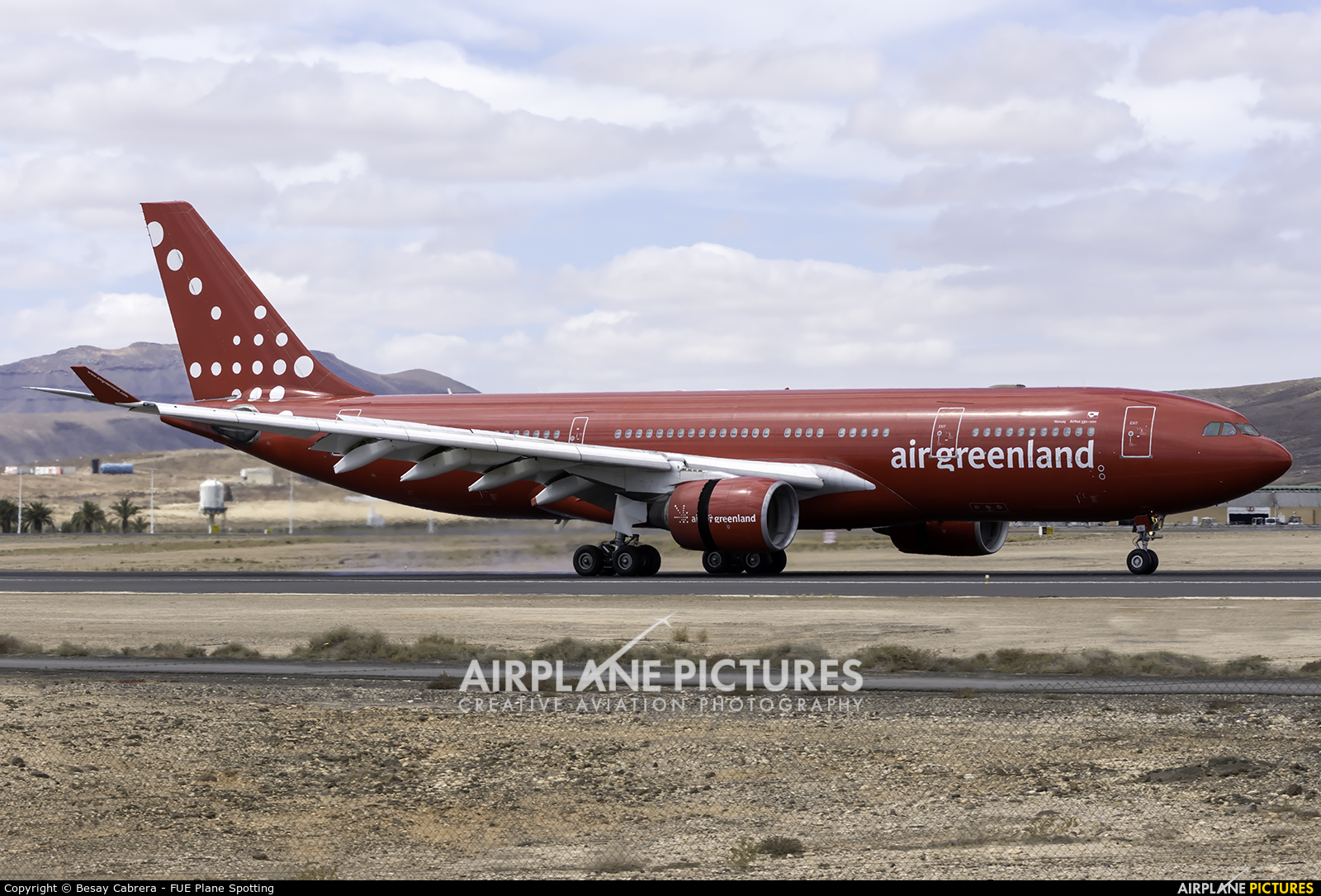 Air Greenland OY-GRN aircraft at Fuerteventura - Puerto del Rosario