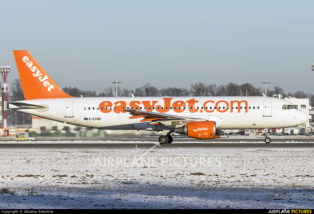easyJet G-EZWD aircraft at Moscow - Domodedovo
