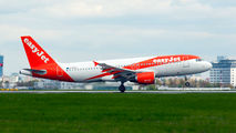 Rare visit of easyJet A320 to Warsaw title=