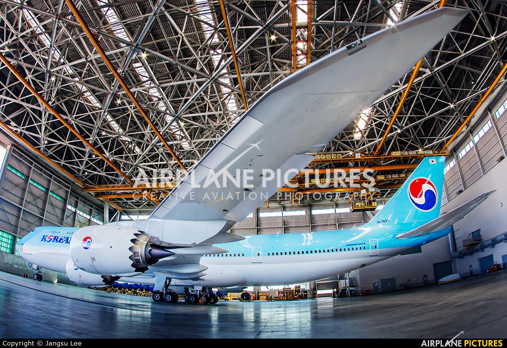 Korean Air HL7638 aircraft at Seoul - Incheon