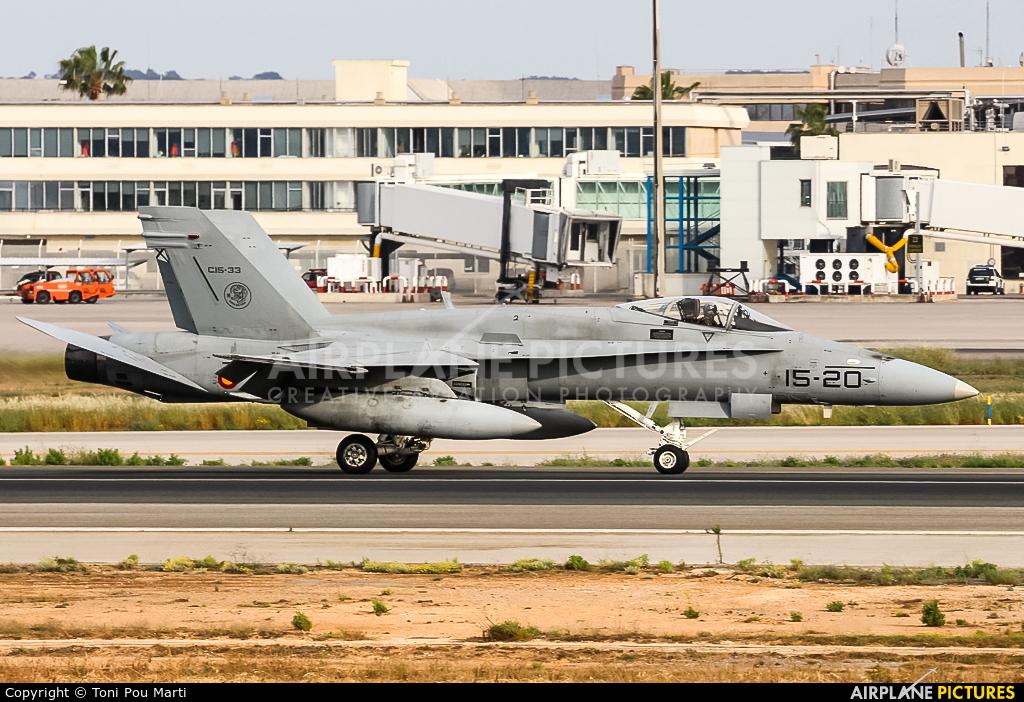 Spain - Air Force C.15-33 aircraft at Palma de Mallorca