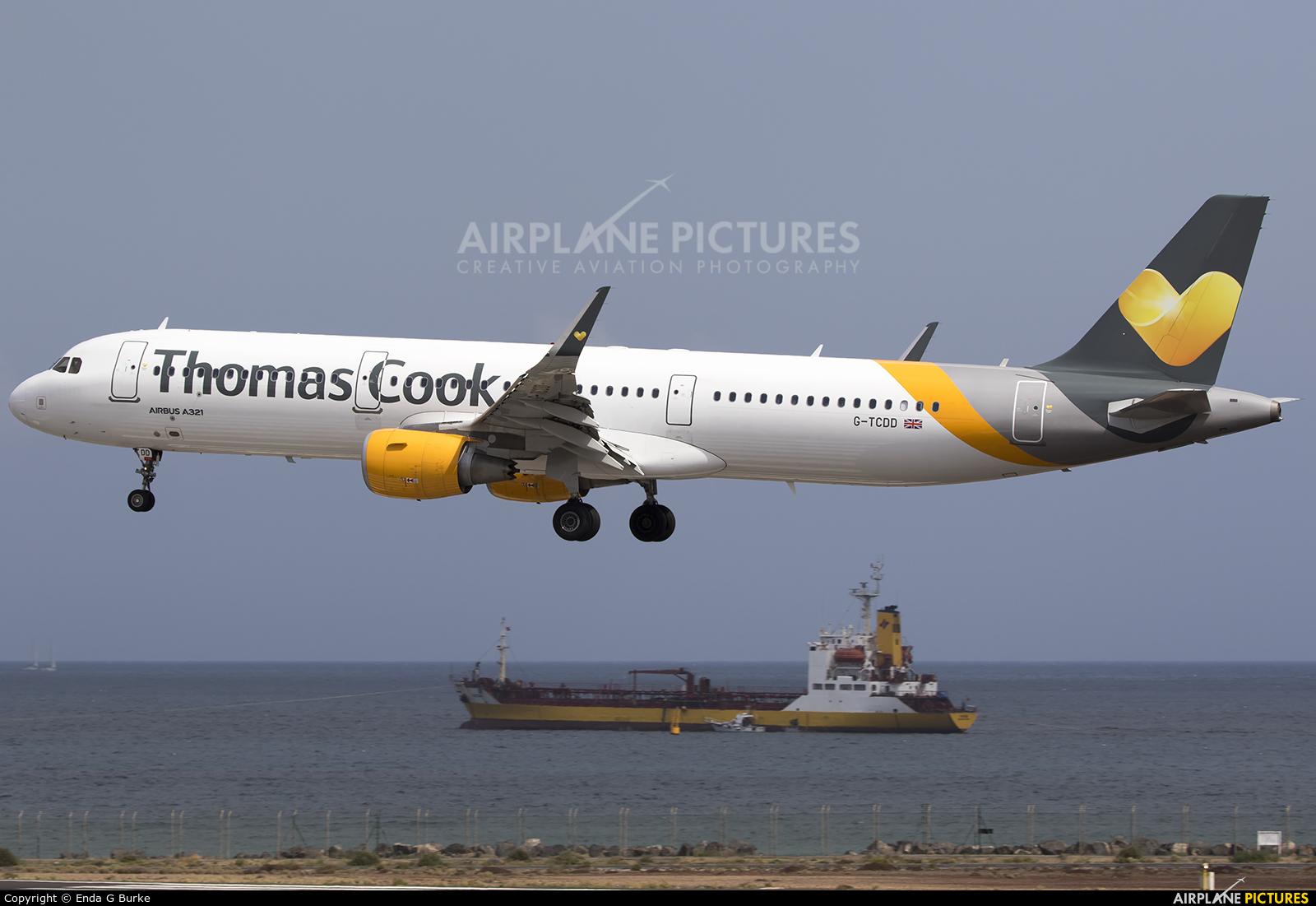 Thomas Cook G-TCDD aircraft at Lanzarote - Arrecife