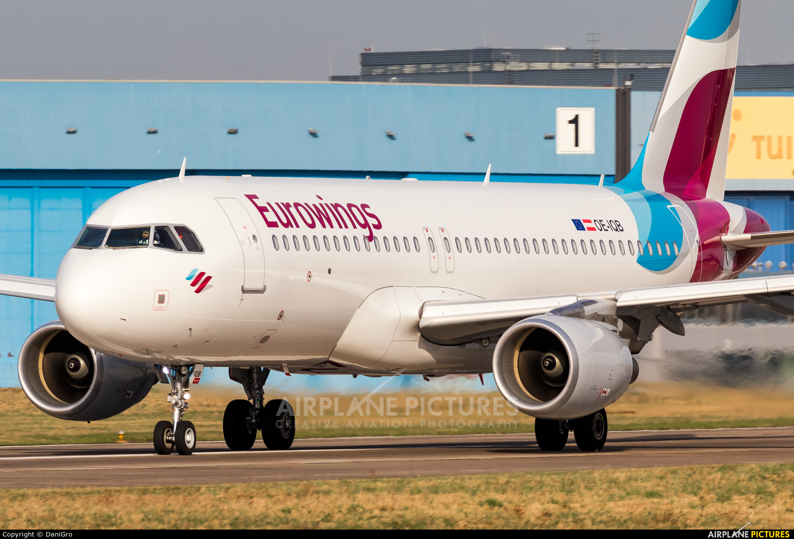 Eurowings Europe OE-IQB aircraft at Hannover - Langenhagen