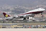 Qatar Amiri B748 visits Malaga title=
