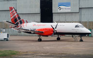 Saab 340 painted in new Loganair colours title=