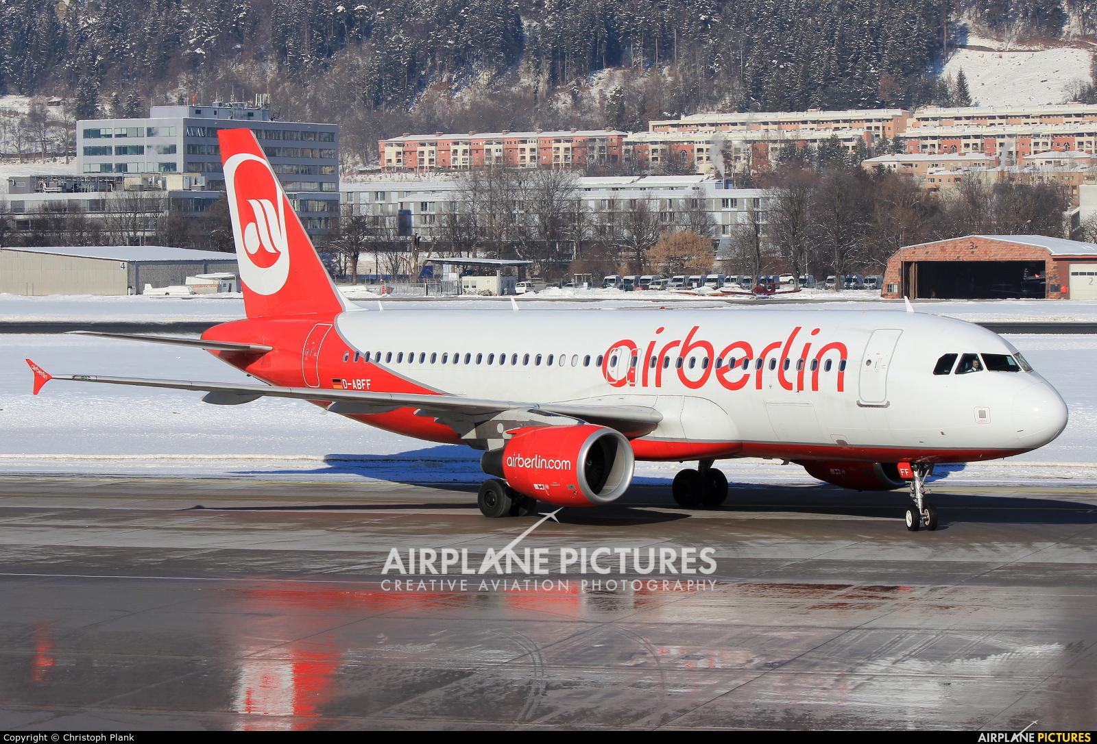 Air Berlin D-ABFF aircraft at Innsbruck