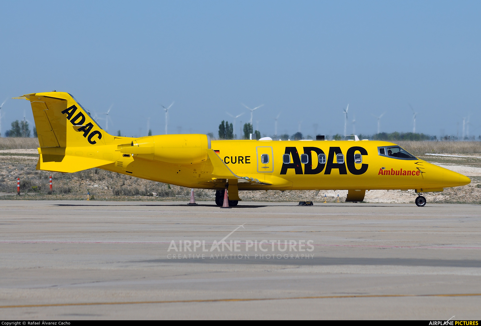 ADAC Luftrettung D-CURE aircraft at Valladolid - Villanubla